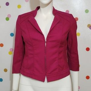WHBM Pink Perfect Form Jacket S/M